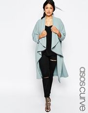 ASOS CURVE Duster Jacket With Waterfall Front