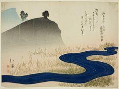 Totoya Hokkei:  Japanese, 1780–1850, A Mountainous Landscape with a Stream
