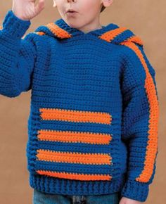 FREE Crochet Pattern from @joannstores -- Kids' Crochet Hoodie