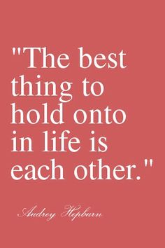 So true - I'm holding on & always will :)