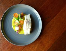 Cod with young leeks and saffron sauce recipe by professional chef Chad Byrne, The Brehon Hotel Saffron Sauce Recipes, Cream Sauce Recipes, Cod Recipes, Anti Inflammatory Recipes, Best Chef, Serving Plates, Cooking, Ethnic Recipes, Professional Chef