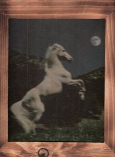 White horse rearing to the moon w/ free shipping in the continental USA by OldTimeCountryCrafts, $9.50