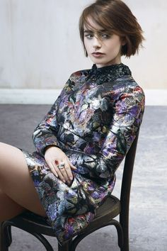 Lily Collins for Marie Claire UK October 2014