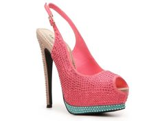 for the modern bride, and not so afraid of height #bride $89.95  Sole Obsession Berne-06 Platform Pump