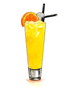 Sophie Varela : Harvey Wallbanger Drink Bar, Food And Drink, Food Graphic Design, Food Design, Harvey Wallbanger, Cocktail Illustration, Pinterest Instagram, Cupcake Drawing, Watercolor Food