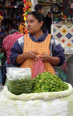 A bag of freshly picked tender green garbanzo--either boiled or roasted by the vendor.  Heaven!