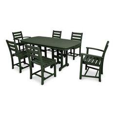 trex outdoor furniture monterey bay 5 piece charcoal black plastic