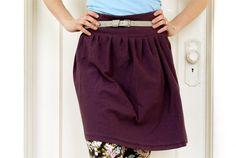 mid-waisted jersey skirt from an XXL men's shirt