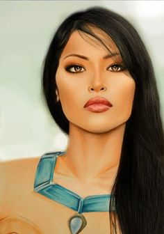 indianerin gesicht schön malen