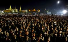 Thailand: Massive crowd flocks palace to honour late king with special anthem