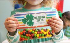 St. Patrick's Day Treat Bag Tags -Rainbow Seeds Printable PDF