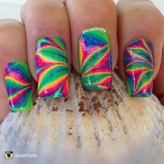 Here is my solo shot for Water Marble Nail Art, Instagram Repost, Nail Tech, You Nailed It, Nail Marbling, Nail Colors, Polish, Pipe Dream, Makeup