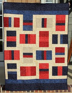 Patriotic Lap Quilt by JnKDesigns09 on Etsy, $160.00