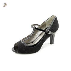c2a51476a Karen Scott Neena Womens Size 11 Black Peep Toe Faux Suede Pumps Heels Shoes  - Karen