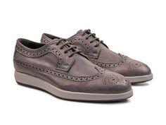 Hogan X Dress men's Anthracite Leather oxfords shoes