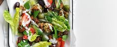 Keftedes with Cucumber and Tomato Greek Salad recipe, brought to you by MiNDFOOD.