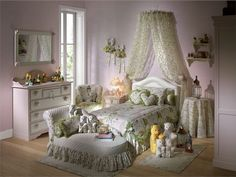 Luxury Romantic and Classic Interior Decor for Young Girl Bedroom by Halley