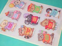 Dated 1982 Shirt Tales Vintage Hallmark Stickers