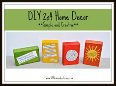 Need some simple and creative home decor? These DIY 2x4 Home Decor pieces are simple and creative! Perfect gifts for those that have everything too!