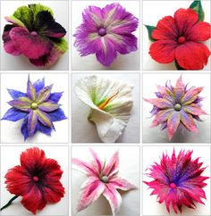 FELTING matters... : FABULOUS Felt Flowers...                                                                                                                                                                                 More