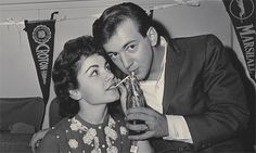 Bobby Darin and Annette Funicello backstage on The Dick Clark Beechnut Show (late 1950s/early 1960s)