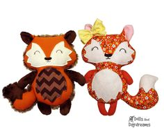 Baby Fox Pattern Sewing DIY Quick and Easy Woodland Softie by DollsAndDaydreams on Etsy https://www.etsy.com/listing/222978663/baby-fox-pattern-sewing-diy-quick-and