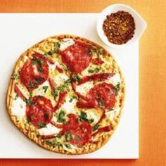 Polenta crust pizza