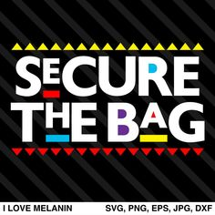 Secure The Bag SVG Black Love Art, Black Girl Art, Black Girl Magic, Black Art Painting, Black Art Pictures, Image Paper, The Design Files, Silhouette Cameo Projects, How To Make Tshirts