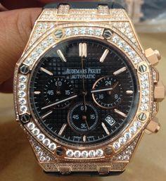 Custom Iced Casing Audemars Piguet Royal Oak Offshore Chronograph Watch $650 via @shopseen