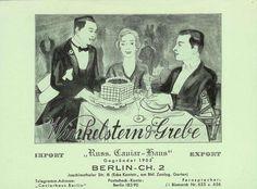 """Winkelstein & Grebe - """"Russ. Kaviar Haus"""", Berlin CH. 2, 1933."""