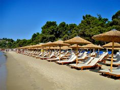 Koukounaries is the second largest resort in Skiathos, this 1,5 km long beach with fine golden sand is backed by dense coniferous woods and a lagoon - Greece