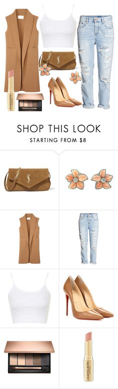 Camel by teennetwork on Polyvore featuring Topshop, Alexander Wang, H&M, Christian Louboutin, Yves Saint Laurent and Napoleon Perdis