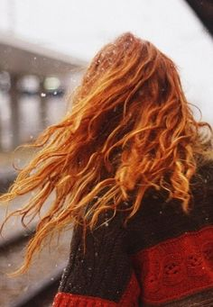 red hair messiness - I love it!