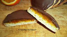Μπισκότα υπέροχα μαλακά γεμιστά!! ~ ΜΑΓΕΙΡΙΚΗ ΚΑΙ ΣΥΝΤΑΓΕΣ Hot Dog Buns, Hot Dogs, Cake Recipes, French Toast, Berries, Bread, Cookies, Orange, Breakfast