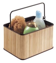 Bamboo Shower Caddy  A caddy made from sustainable bamboo to hold soaps, shampoos, razors, and other bath essentials. http://www.dormco.com/Bamboo_Shower_Caddy_College_supplies_p/h1-3-1-44683.htm
