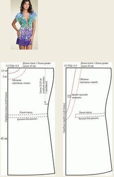 Выкройки туник любого размера - шьем быстро и легко