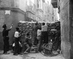 Detrás de las Barricadas Guerra civil Española