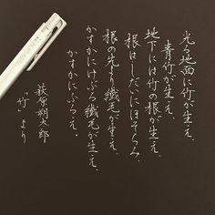 ペンの色は銀色です . . #腰の痛さは限界です #萩原朔太郎 #竹 #字#書#書道#ペン習字#ペン字#ボールペン #ボールペン字#ボールペン字講座#硬筆 #筆#筆記用具#手書きツイート#手書きツイートしてる人と繋がりたい#文字#美文字 #calligraphy#Japanesecalligraphy Chinese Calligraphy, Calligraphy Fonts, Japanese Handwriting, Penmanship, Japanese Language, Digital Art, Pencil, Typography, Product Launch