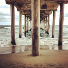 We used to play under the pier all the time. Missing home.....Huntington Beach, CA -Emblem3