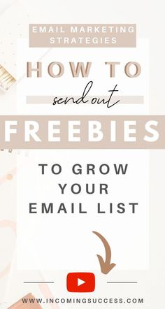 If you want to Grow your Email List Organically and have people on the List that actually want to receive weekly emails and updates from you, the best Strategy you can use is sending out Opt-In Freebies or Lead Magnets to people that are interested in your Business and Content!  If you want to learn exactly how to create and send out an opt-in Email Marketing Freebie with Mailerlite - make sure to watch this Video!  #emailmarketing #optinfreebie #freebies #leadmagents #optinfreebies… Email Marketing Design, Email Marketing Strategy, Business Tips, Online Business, Entrepreneur, Startup, Email Campaign, Email List, Pinterest Marketing