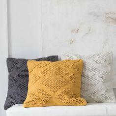 Foreside Home & Garden - Hand Woven Nia Pillow Mustard