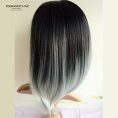 Silk-straight-grey-ombre-wigs-two-tone-natural-black-rooted-gray-Synthetic-hair-wigs-medium-length.jpg (799×799)