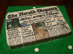 Other > Newspaper Retirement Cake