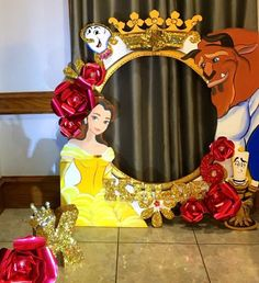 Beauty and the beast photo prop bella's bday geburtstagsfeier idee Disney Princess Party, Princess Theme, Princess Birthday, Beauty And Beast Birthday, Beauty And The Beast Theme, Beauty Beast, Baby Girl Shower Themes, Girl Themes, Baby Shower