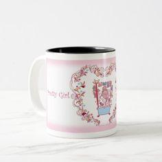 Pretty Girl マグカップ070305-001 Two-Tone Coffee Mug - diy cyo personalize design idea new special custom