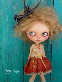 Blythe doll outfit OOAK  *Precious*  -Grungy-chic dress, silk and antique lace