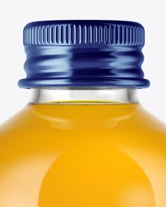 Glass Bottle with Soft Drink Mockup (Close-Up)