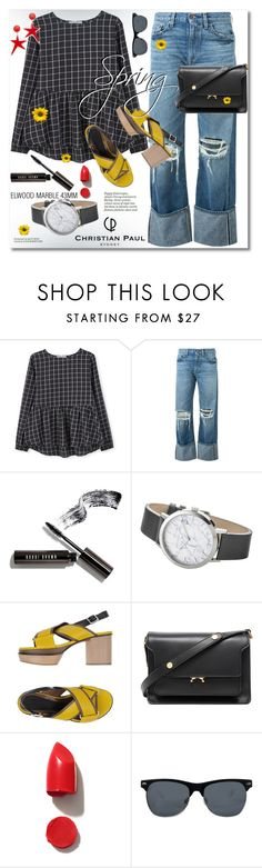 """Spring Day to Night"" by svijetlana ❤ liked on Polyvore featuring MANGO, Simon Miller, Bobbi Brown Cosmetics, Elwood, Marni, NARS Cosmetics, polyvoreeditorial, daytoevening and christianpaul"