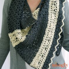 The free crochet pattern  Quicksilver Shawlette is, to date, my favorite piece. I love the neutrals, the interplay of the stitch patterns, the edging - all of it - and it's free!