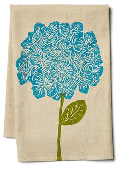 Hydrangea Tea Towel, Blue | Get Invited Back | One Kings Lane